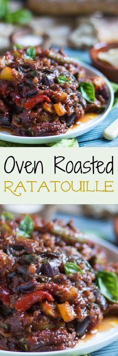 Oven Roasted Ratatouille. Fantastic hot or cold, and freezes well.