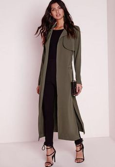 c61f25bd9be60 Get the light layered look this season in our current favourite duster  style coat. In