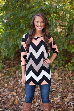 The Pink Lily Boutique - Break Away Tunic, $36.00 (http://www.thepinklilyboutique.com/break-away-tunic/)