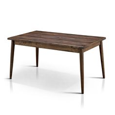 Furniture of America Reynorth Mid-century Modern Natural Tone Dining Table (Natural Tone), Brown Oak
