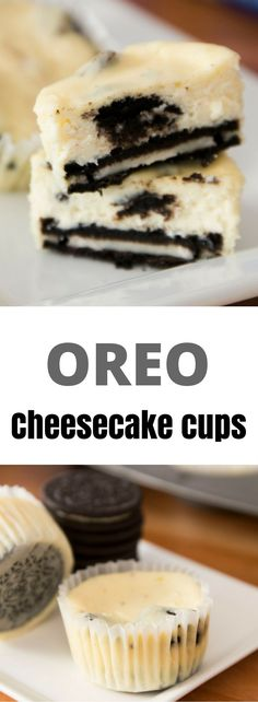 Oreo Cheesecake Cups recipe is easy to make and amazingly delicious. It's also fun to hide the Oreo at the bottom of the cup!This Oreo Cheesecake Cups recipe is easy to make and amazingly delicious. It's also fun to hide the Oreo at the bottom of the cup! Easy Desserts, Delicious Desserts, Dessert Recipes, Oreo Dessert Easy, Easy Cheesecake Recipes, Oreo Cheesecake Cups, Mini Cheesecakes, Food Cakes, Savoury Cake