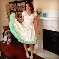 Jtamm2011 Looked Perfect In The Lottie Dress With A Mint Petticoat And Wedges For New Orleans