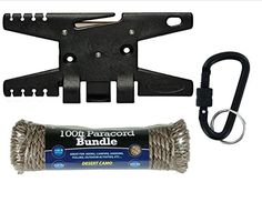 Spool Tool Paracord Tool  BLACK PLUS 100FT 55O 7 STRAND DESERT CAMO PARACORD TACTICAL BLACK LOCKING CARABINER * You can find out more details at the link of the image.