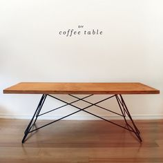 How To: Make a Mid-Century Modern Inspired DIY Coffee Table » Curbly | DIY Design Community