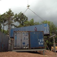 Container House in Muntanyola (Barcelona). Nova, Container Architecture, Construction Process, Cabin, Shipping Containers, House Styles, Barcelona, Houses, Home Decor