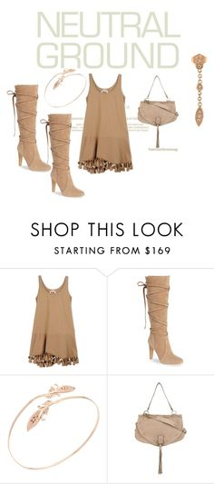 """Neutral Ground"" by trijak ❤ liked on Polyvore featuring N°21, Vince Camuto, Jacquie Aiche and See by Chloé"