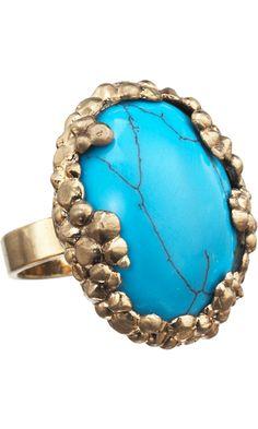 Turquoise Cosmic Bevel Ring