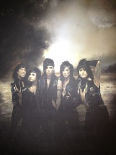 Black Veil Brides. CC's face is awesome!! CC why do you have to be so beautiful? Like why are they all beautiful?