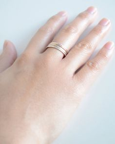 Mixed Stacked Rings hammered stacking rings door OliveYewJewels