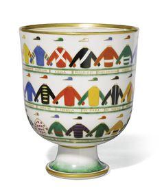 Gio Ponti for Richard Ginori, 1891-1979 'THE JOCKEYS' VASE, 1927 #francescarossi #rossifrancesca #ginori #pottery #restauro #restore #wax #konservator www.rossirestauro.com