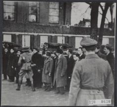 February 22 and 23 1941. German raid on the Jonas Daniël Meijerplein in Amsterdam were 425 Jewish men were rounded up and deported to the concentration camps Mauthausen and Buchenwald. These raids initiated the February strike. #amsterdam #worldwar2