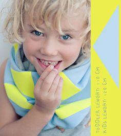 Neon flock folie, stoer! | DIY geometrical kids scarf - zilverblauw.nl
