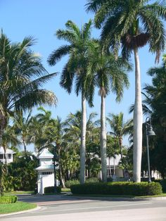 Entrance to Coconut Creek, a neighborhood developed by Daniel Wayne Homes in Fort Myers, Florida. The neighborhood features Old Florida, or Key West style architecture.