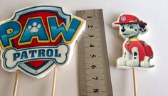 Edible Fondant Paw Patrol Cake Toppers on edible by TheAppleSack