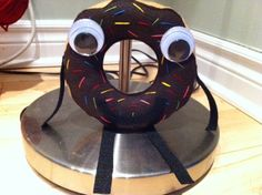 How to make an Arnie the Donut plush toy - DIY with steps! Leave off the eyes insert squeaker = dog toy