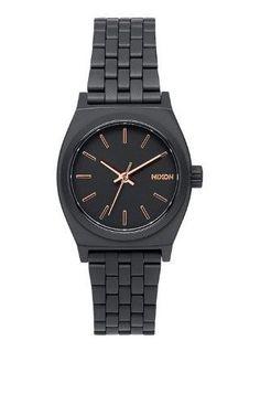 Nixon Small Time Teller All Black Rose Gold Quartz Analog Women s Watch  A399- d7247ba212