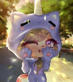 so cute omg! eeekkkk >w< Anime Girl Drawings, Cute Kawaii Drawings, Kawaii Cute, Cute Anime Chibi, Kawaii Anime Girl, Anime Wolf Girl, Chibi Girl, Cute Anime Character, Anime Life