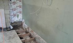 Rising damp due to high ground levels and rainwater ingress through air brick Rising Damp, High Ground, How To Level Ground, Mother Nature, Brick, Homes, Shape, Houses, Home
