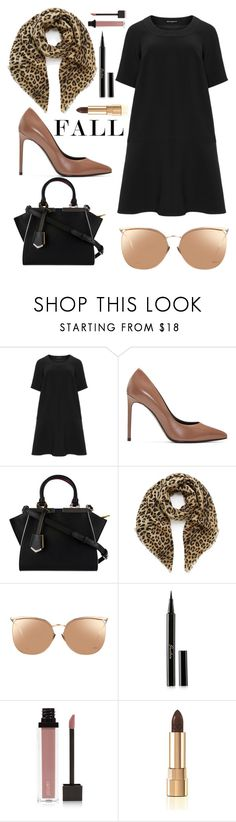 """""""Welcome Fall"""" by piedraandjesus ❤ liked on Polyvore featuring Manon Baptiste, Yves Saint Laurent, Fendi, Mulberry, Linda Farrow, Guerlain, Jouer and Dolce&Gabbana"""
