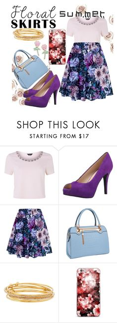 """FloralSkirt'2♡"" by annadeiman ❤ liked on Polyvore featuring New Look, Nine West, Relaxfeel, Kate Spade, Big Bud Press and Floralskirts"
