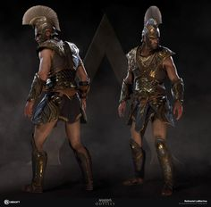 Achilles armor was very special. It was the reason for a dispute between Odysseus and Ajax. Odysseus ended up winning it. Assassins Creed Art, Assassins Creed Odyssey, Fantasy Character Design, Character Art, Larp, Ancient Armor, Roman Warriors, Armor Clothing, Greek Warrior