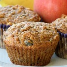 "Roxie's Bran Muffins | ""Bran muffins are made with bran cereal, apple, banana, honey, and plump raisins."""