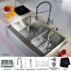 Basement Bar- stainless steal farmhouse sink!