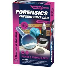 Forensics Fingerprint Lab science kit for kids, from Thames & Kosmos