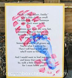 Nothing say's Happy Father's Day like a homemade card! Let's put a spin on it this year and capture Daddy and son(s) foot prints. We can't spoil the surprise, so let's use Dads boot print! The ori...