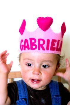 princess or prince? you decide!  #birthday #crown #craft #felt #princess #prince
