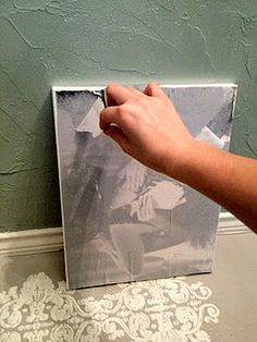 DIY Distressed Canvas- Transferring Photos to Canvas