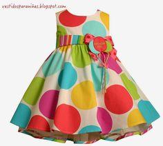 VESTIDO PARA FIESTA - POLKA DOT - BIRTHDAY GIRL - DRESS FOR GIRLS