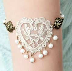Gothic Beads Pendant Heart Flower Bracelet For Women Color: AS THE PICTURE Category: Jewelry > Bracelets   Item Type: Charm Bracelet  Gender: For Women  Chain Type: Link Chain  Material: Lace  Metal Type: Lead-tin Alloy  Style: Trendy  Shape/Pattern: Heart  #heartbraceletcharms #heartbracelet #charmsbracelet #womenbracelet #bridgat.com
