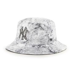 680a8010963be New York Yankees Knuckle Down Bucket White 47 Brand Hat - Detroit Game Gear
