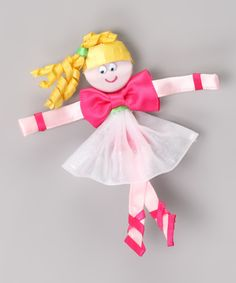 Hot Pink Ballerina Clip from Picture Perfect Hair Bows on #zulily #girls #kidsfashion #hair #accessories