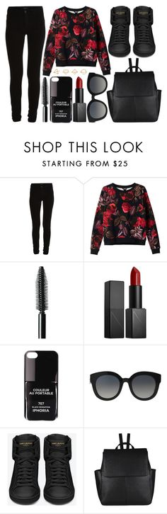 """""""street style"""" by sisaez ❤ liked on Polyvore featuring VILA, Monki, NARS Cosmetics, Iphoria, Dolce&Gabbana, Yves Saint Laurent, John Lewis and Charlotte Russe"""