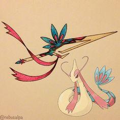 Pokeapon No. 350 - Milotic. #pokemon #milotic #hookblade #pokeapon