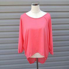 Pink Hi-Lo Top Pink 3/4 Sleeve Hi-Lo Top   This is NWOT Retail. Price Firm Unless Bundled Tops