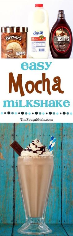 ~ from ~ Cool off on a hot day with this Easy Mocha Shake Recipe! Its rich, creamy, and ridiculously delicious! Delicious Chocolate, Chocolate Recipes, Delicious Desserts, Dessert Recipes, Baking Desserts, Frosting Recipes, Smoothies, Smoothie Drinks, Smoothie Recipes