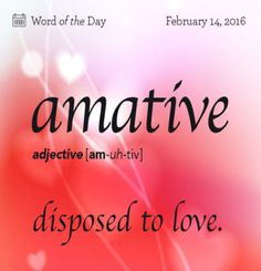 i want to be amative..