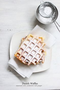 danish waffles with cardamom & ginger #food #yummy For guide + advice on healthy lifestyle, visit www.thatdiary.com