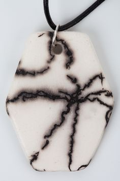 #Horsehair embellished #pendant  Photo Credit Brian Culligan www.clairemolloyceramics.com Horsehair, Photo Credit, Pendant Necklace, Ceramics, Jewellery, Fashion, Hall Pottery, Moda, Jewels