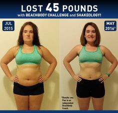 See how Pam lost 45 pounds in less than a year with Beachbody programs and Shakeology!  // results // before and after picture // weight loss // transformation // success stories // fitness // exercise // nutrition // womens results // Beachbody Challenge // Beachbody Coach // Beachbody // BeachbodyBlog.com