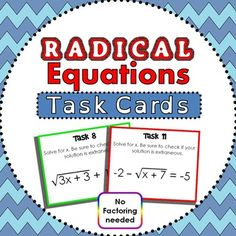 Worksheets Radical Equation Review Worksheet Match Up ideas tables and equation on pinterest students solve multi step radical equations in this task cards activity each of the