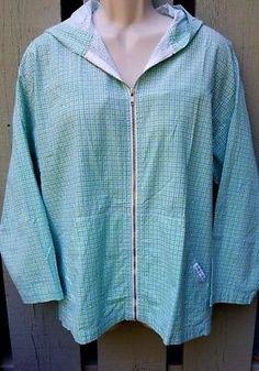 Fresh Produce Jacket Sz Medium M Zip Hoodie Aqua Oversized Cotton USA
