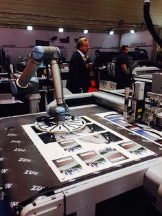 FESPA 2015: Robotic takeoff from Zund's digital cutting system.