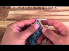 How to Knit the Cartridge Belt Rib Stitch - YouTube