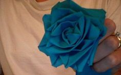 How to Make a No-Sew Fabric Rose Out of Ribbon thumbnail