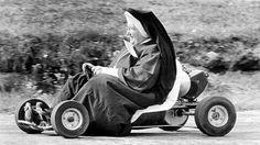 Go-karting. Classic nun having fun. #621 #funun http://621shop.com