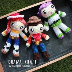 Toy Story inspired crochet dolls https://www.facebook.com/OhanaCraft/